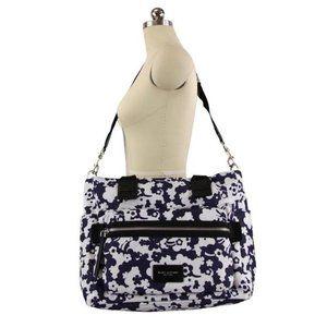 Blue Moon Biker Floral Print Polyester Diaper Bag